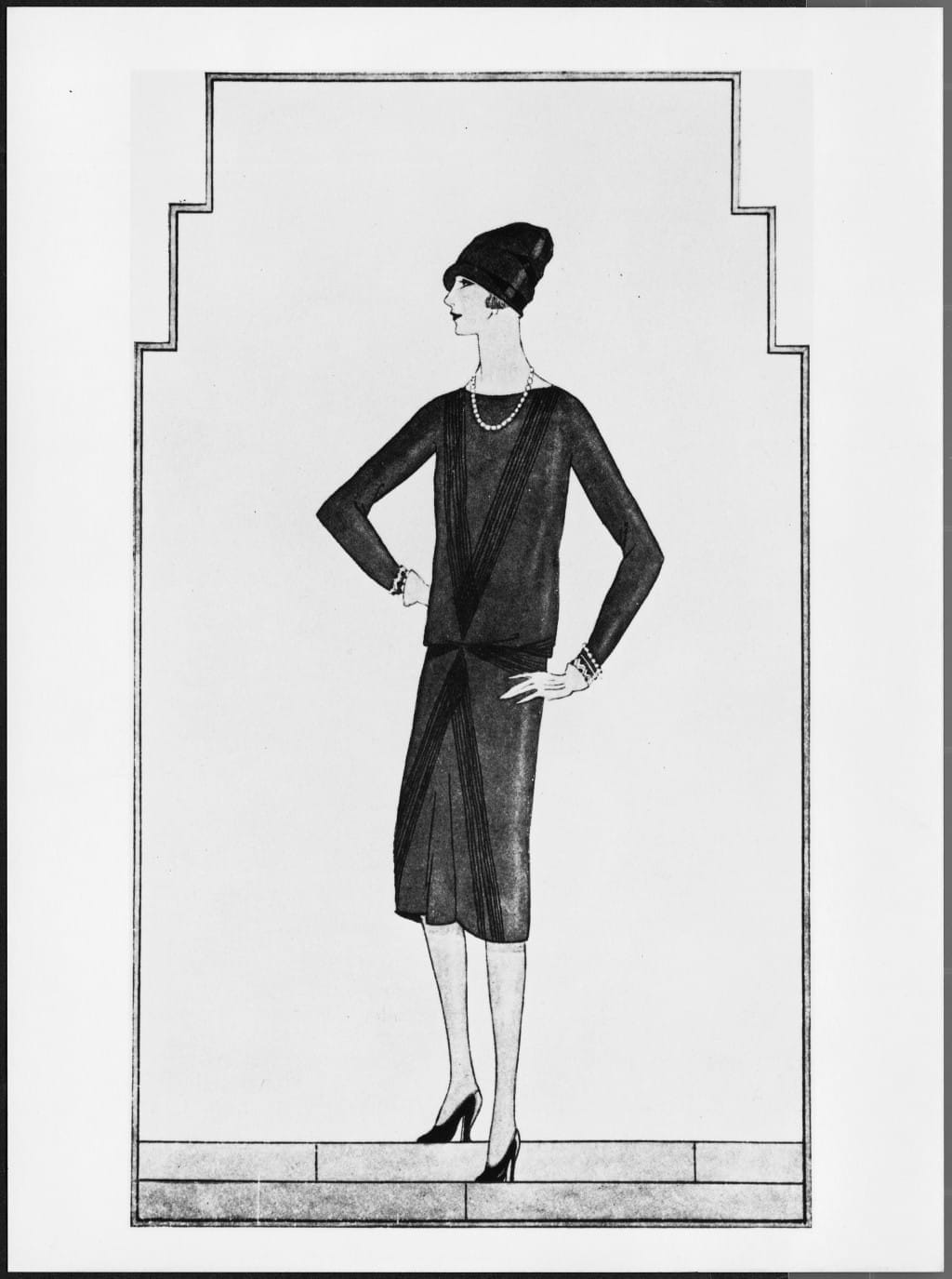 1926 Ford dress drawing in Vogue US