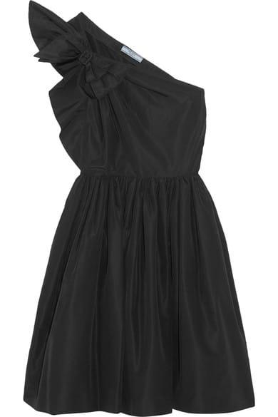 2ef999c1f Prada One Shoulder Bow Embellished Silk Faille Dress AED8,306 / SAR8,477  Net-a-Porter.com
